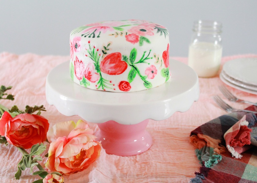 how to paint on fondant cakes
